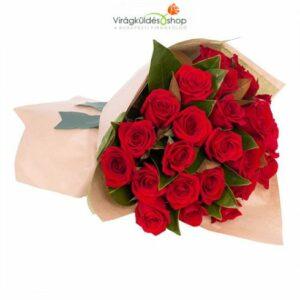vörös rózsa csokrok